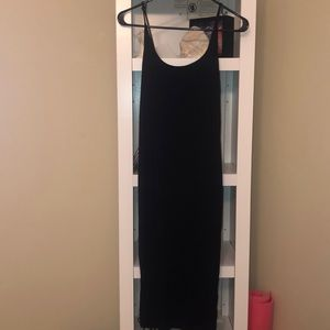 H & M Fitted ribbed tank dress